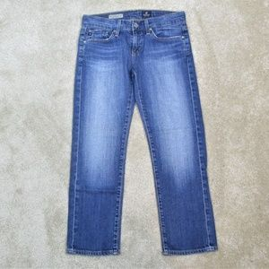 AG ADRIANO GOLDSCHMIED The Tomboy CROP Denim JEANS